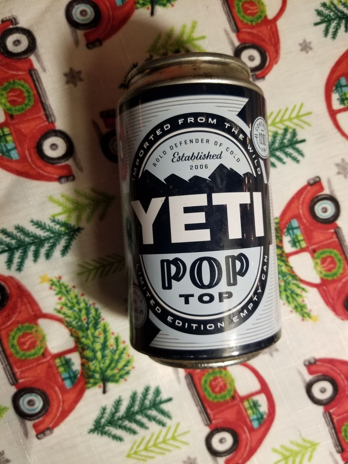 Yeti pop top limited edition empty can