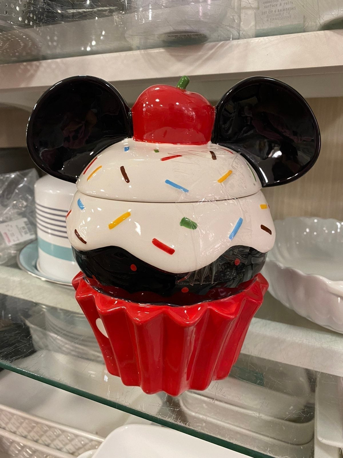 Mickey Cupcake Cookie Jar