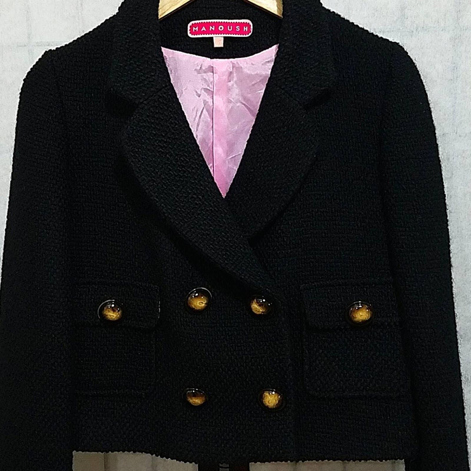 Manoush wool cropped Black jacket 40/6