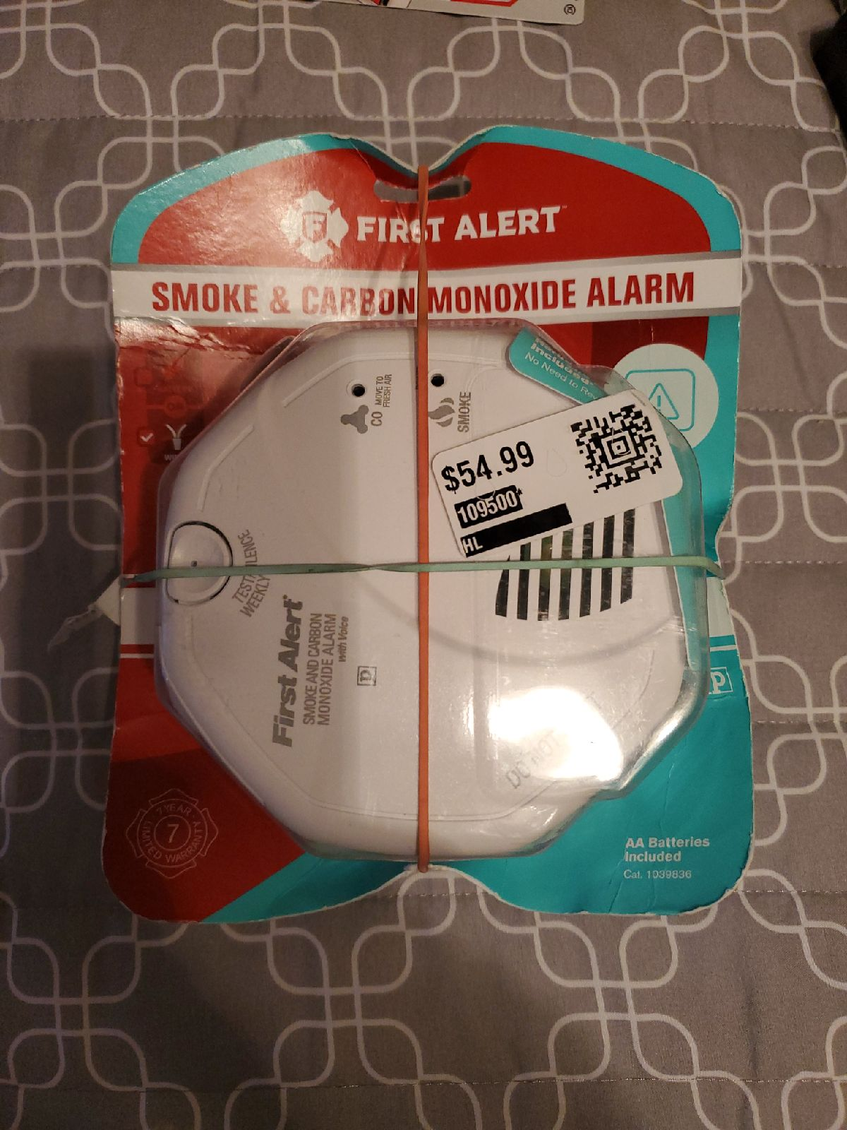 First Alert smoke and carbon monoxide al