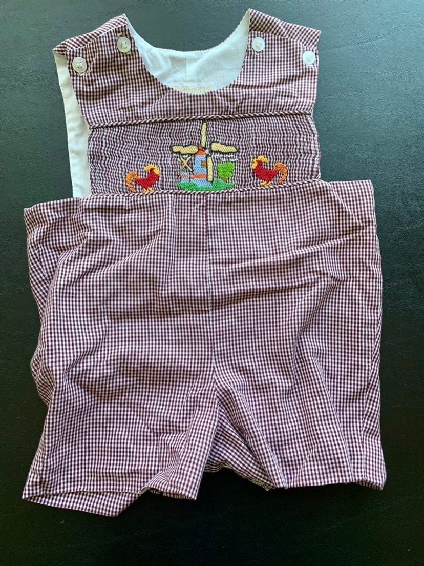 Baby Boy 9m Smocked Outfit