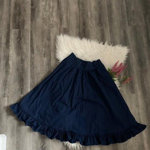 Vintage Denim Ruffled Prairie Skirt