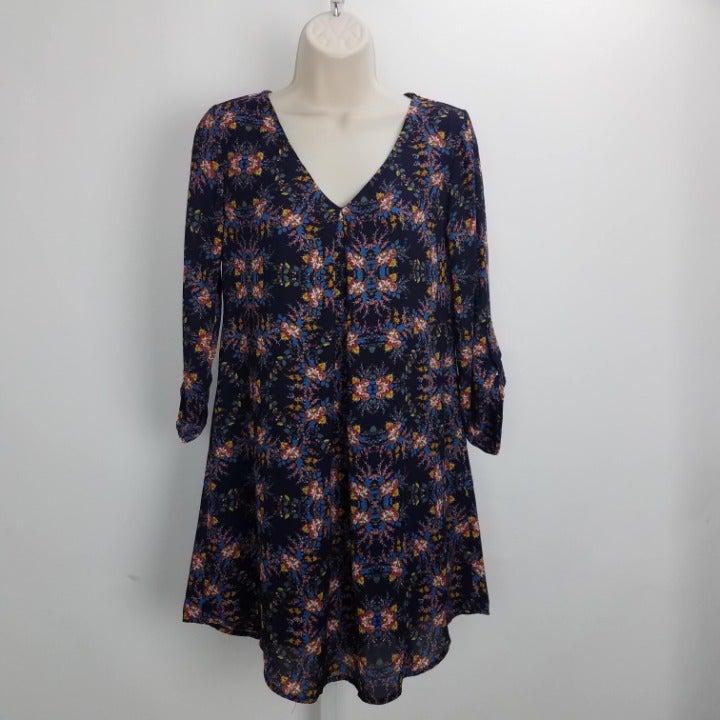 Lush Floral Midi Dress Sz XS Purple