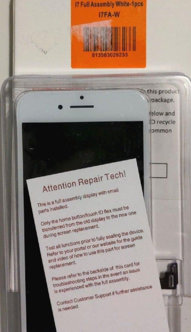 iPhone 7 Screen LCD + Digitizer, White
