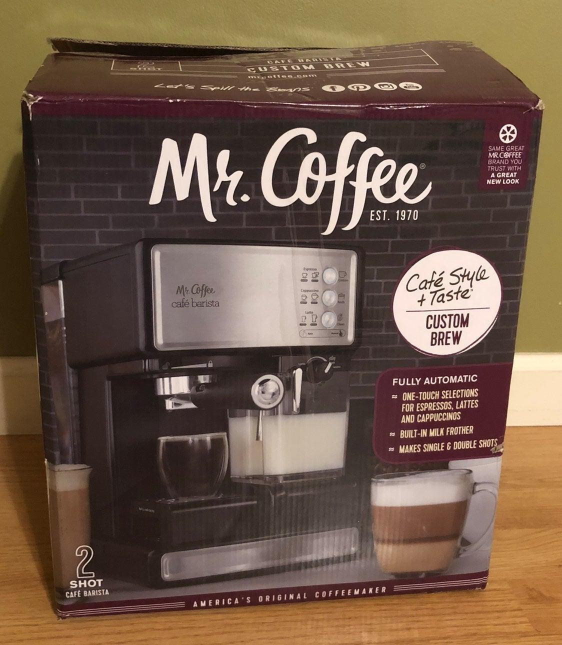 "Mr Coffee 2 shot cafe barista  ""read"