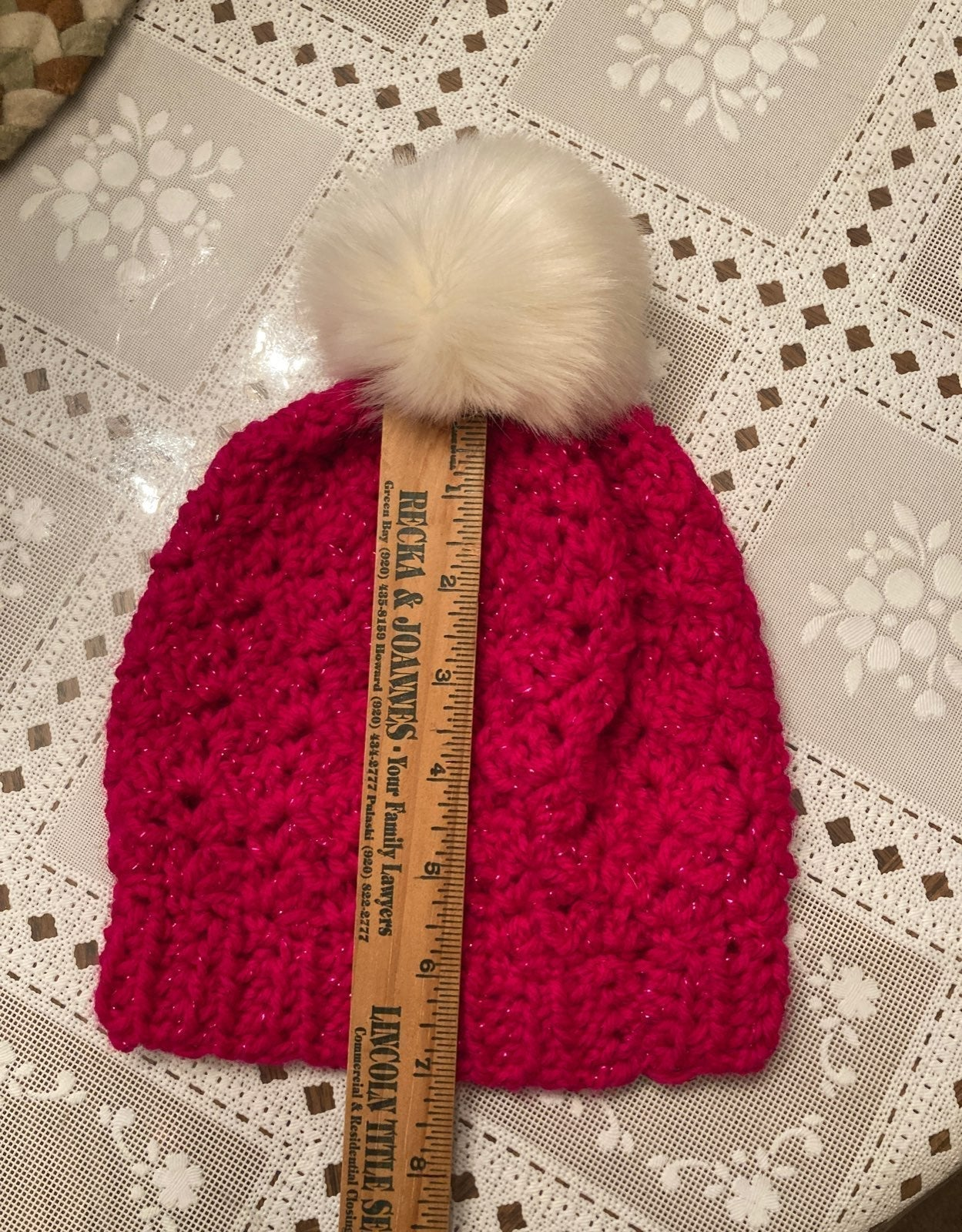 Crocheted handmade hat.