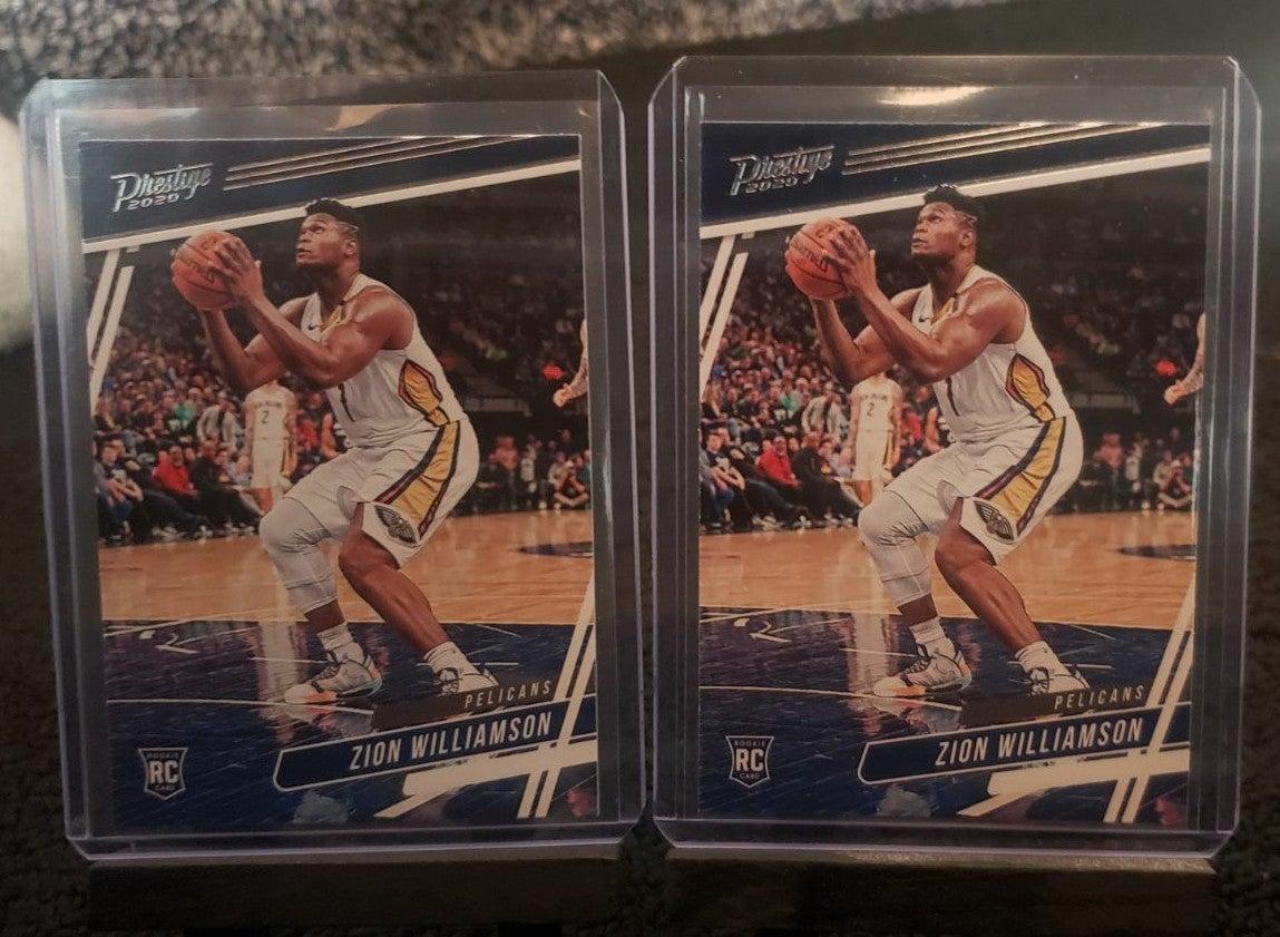 2 Prestige Zion Williamson Rookie Cards