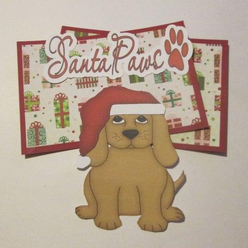Santa Paws Dog - Scrapbook or Card Set