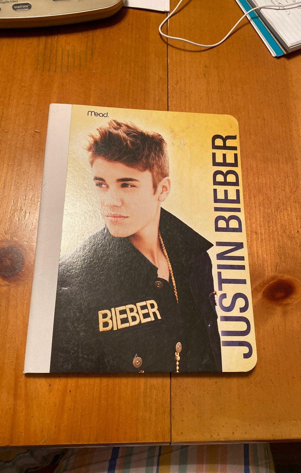 Justin Bieber Mead Notebook
