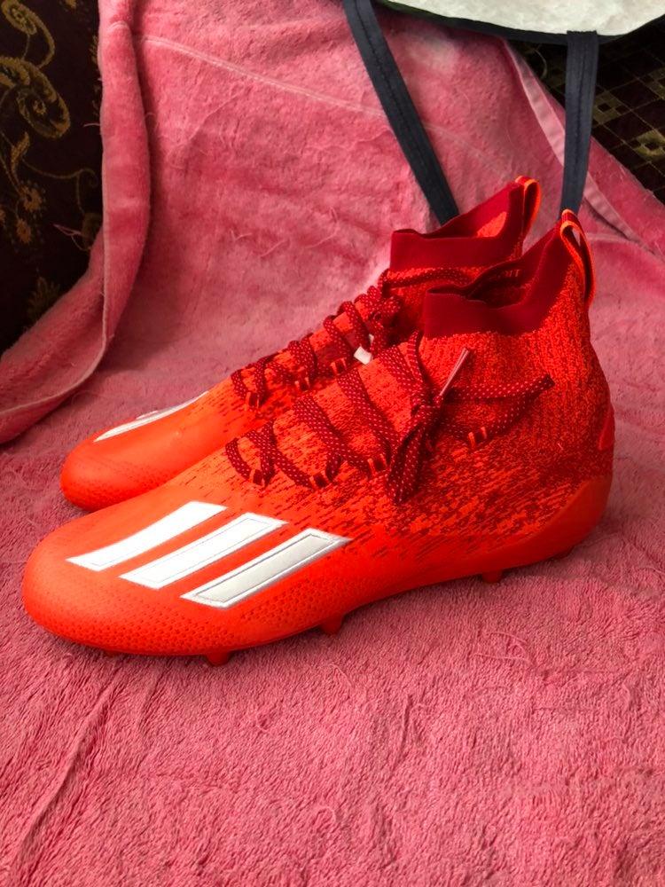 Orange Adidas Knit Football Cleats Sz 13