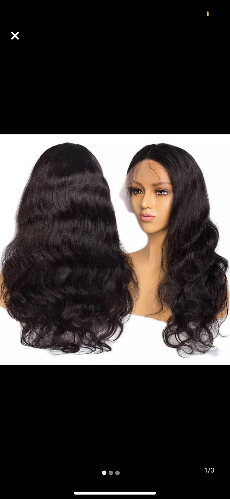 lace front wig human hair body wave 180