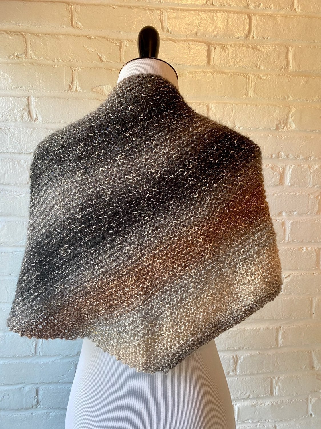 Handmade Knit Cotton Shawl