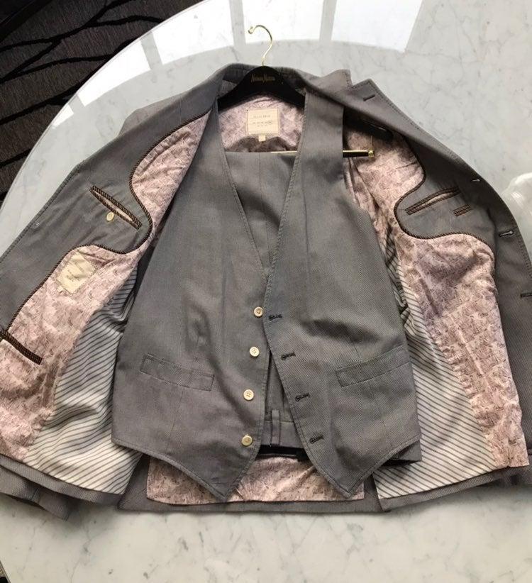Billy Reid Linen-Cotton Three-Piece Suit