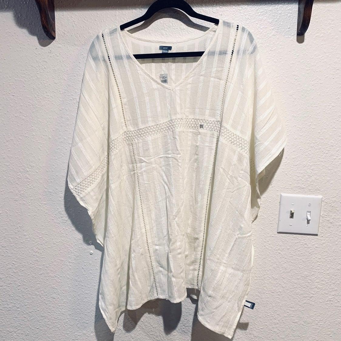 Aerie White Linen Cover Up