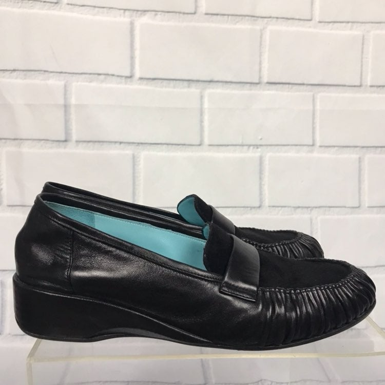 Thierry Rabotin Leather Slip On Loafers