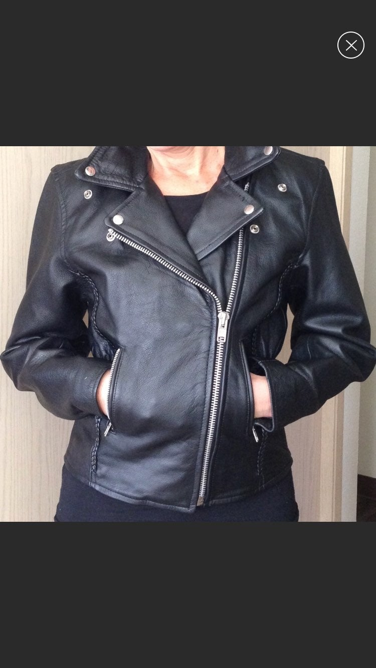 100% Leather Motorcycle Jacket - Bikers