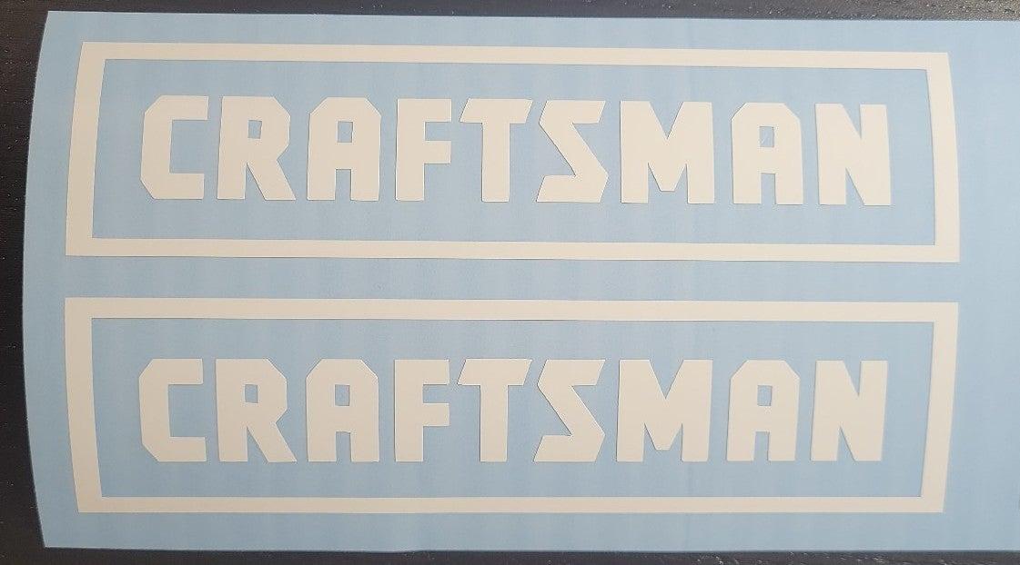 2 Crafsman Tools Logo Vinyl decals