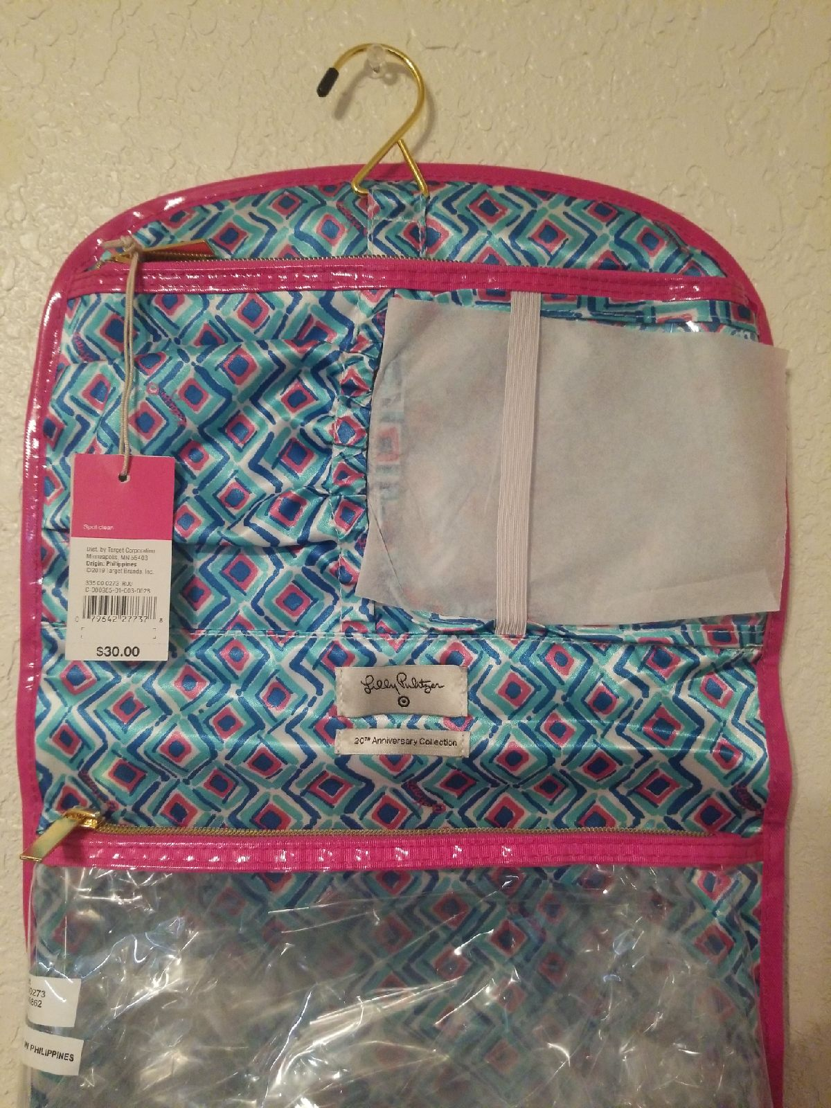 Lilly Pulitzer travel cosmetic bag