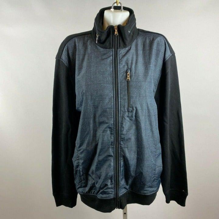 Tommy Hilfiger Black Gray Plaid Jacket