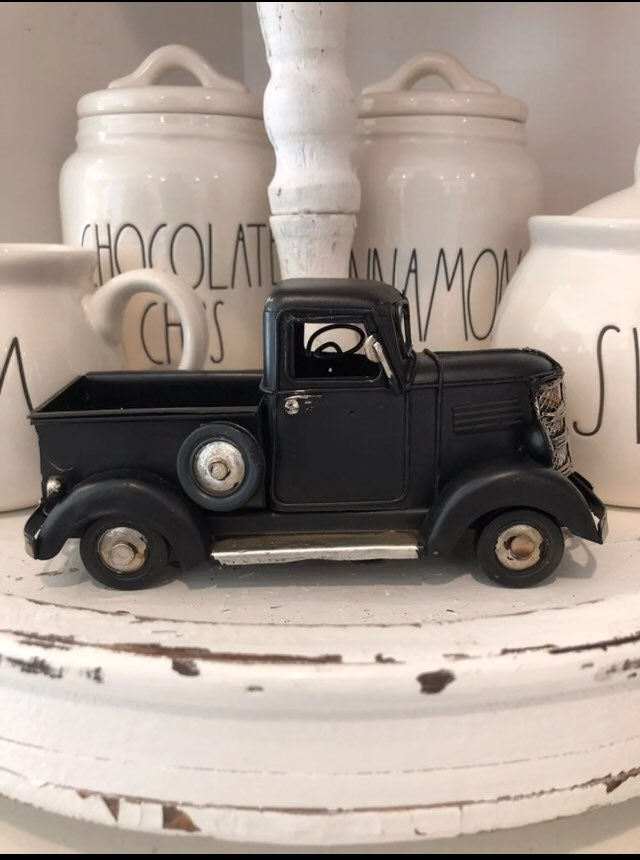 Farmhouse Decor - Decor black farm truck