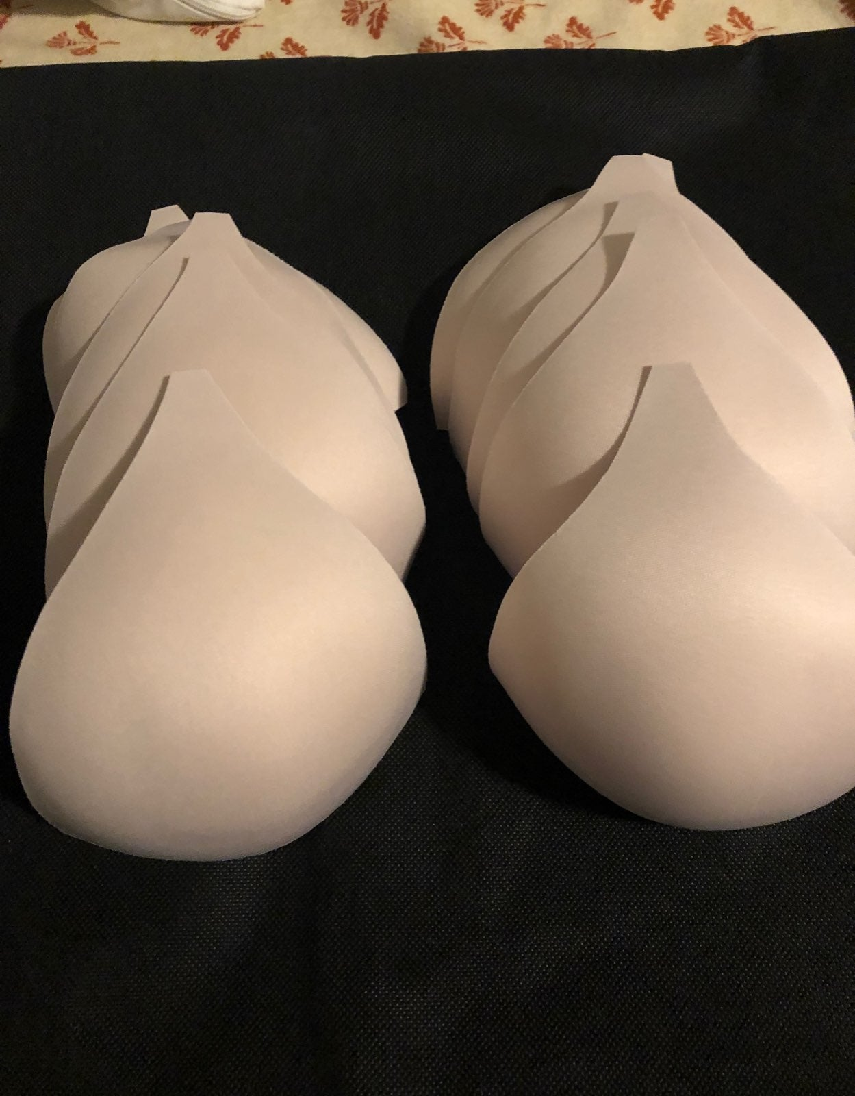 5 pair molded push-up bra cups
