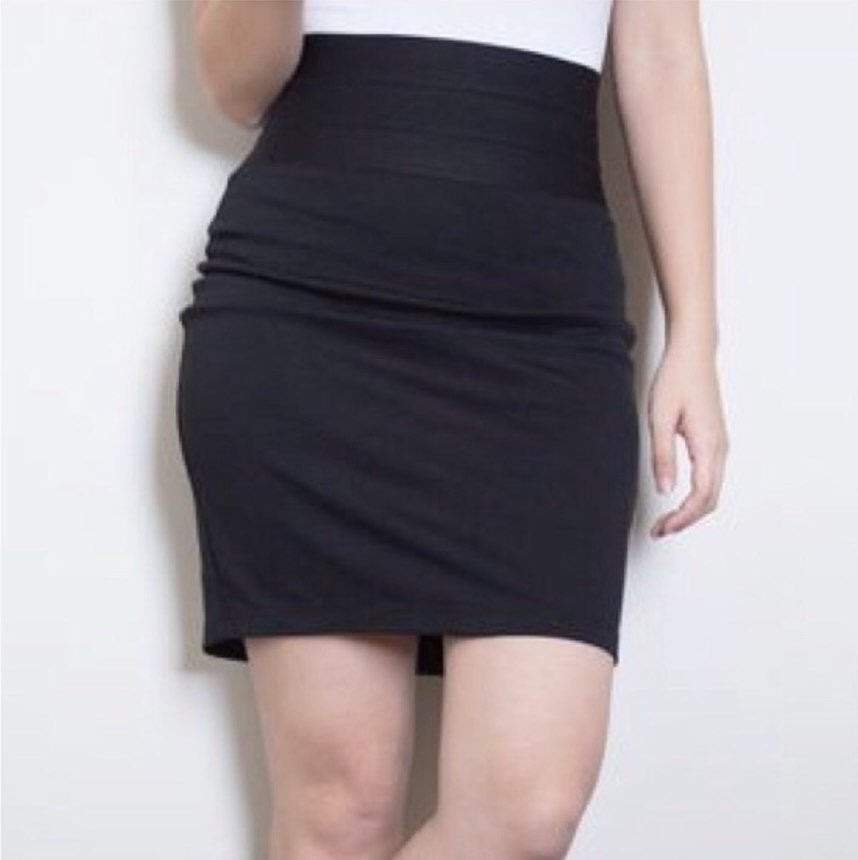 Max Studio Black High Waist Pencil Skirt