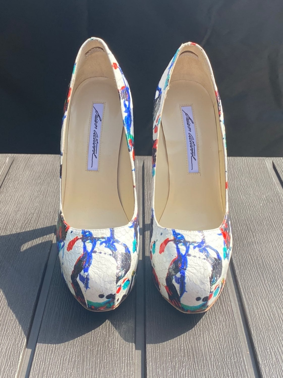 NIB Brian Atwood Multi Color Heel Shoe