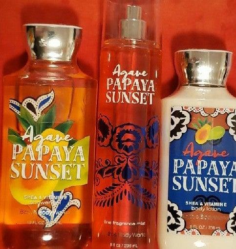Bath and Body Works Agave Papaya Sunset
