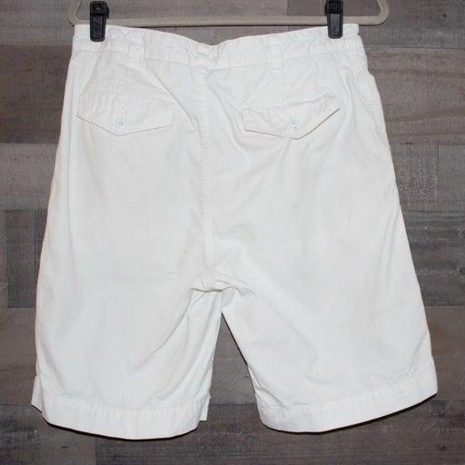 Cremieux White Cargo Shorts Size 32