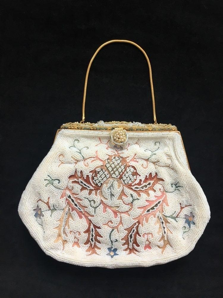 VTG Belgian Hand-beaded Formal Bag