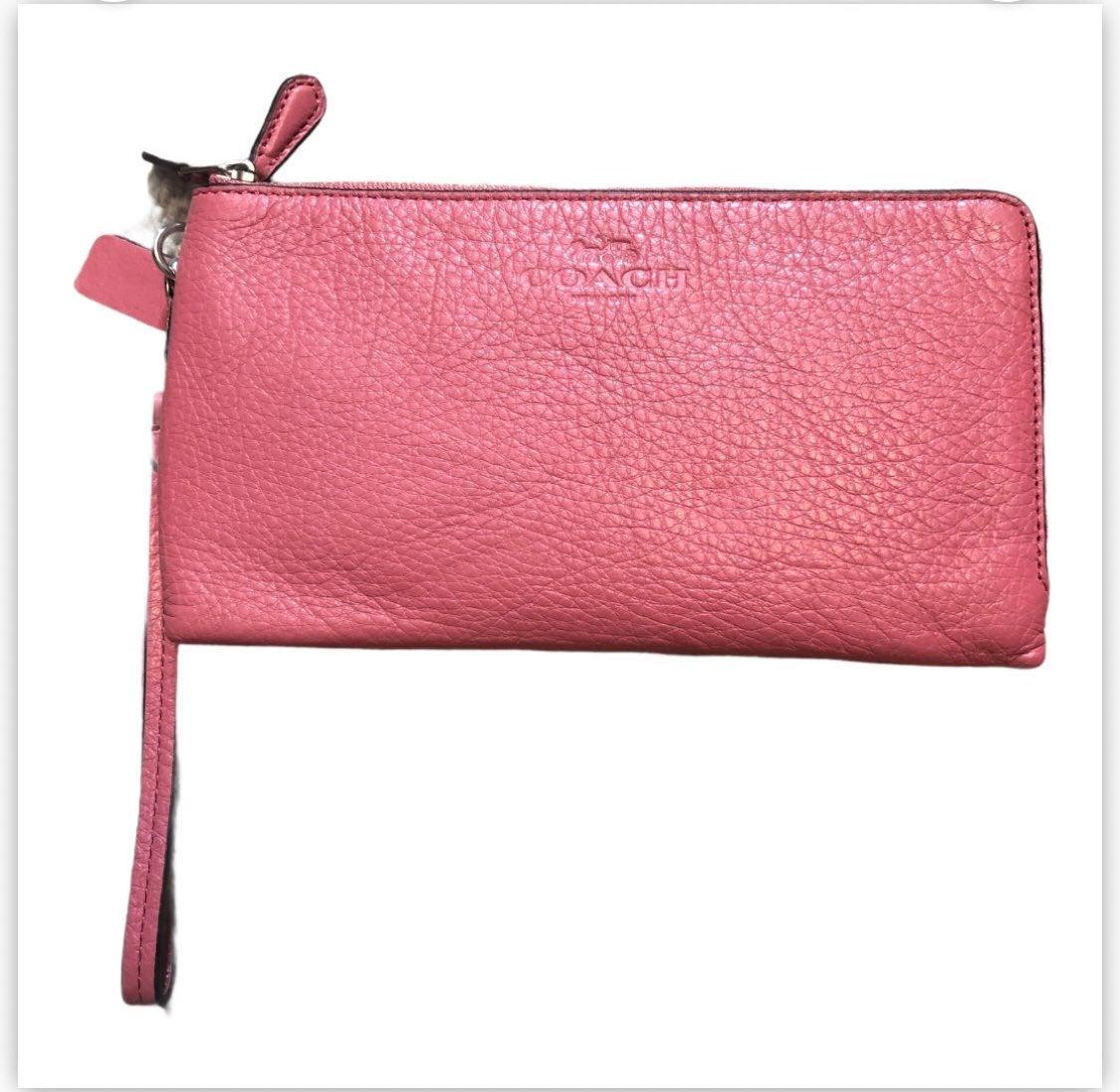 Coach Pink Double Zip Wristlet