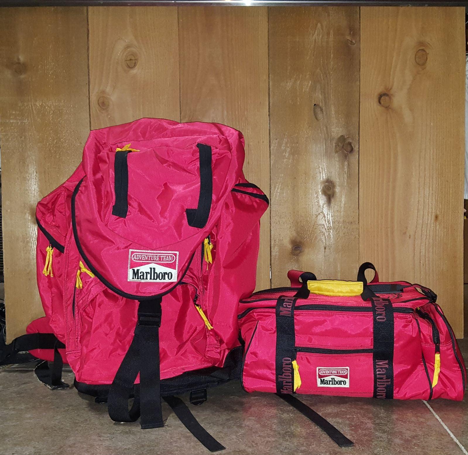 Marlboro backpack and cooler