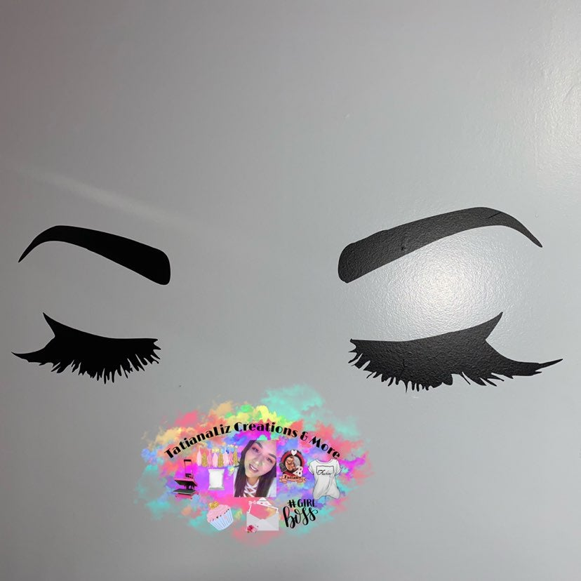 Lashes wall decor
