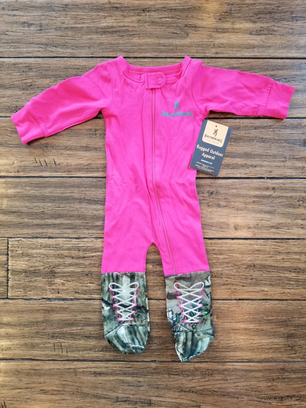 6m NWT Browning Pink and Camo Girls Foot