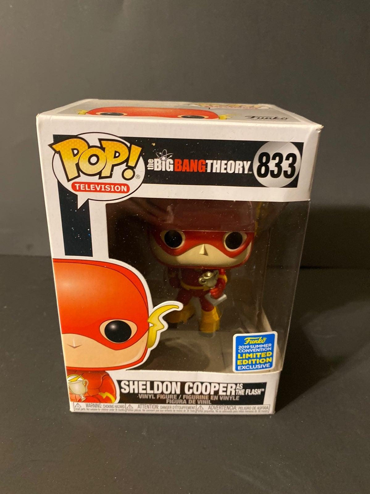 Sheldon cooper as the flash funko pop!