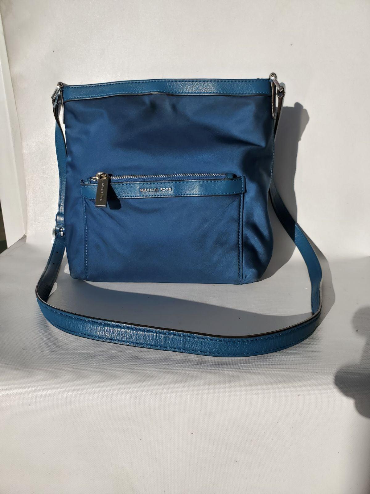 Michael Kors Blue Nylon Crossbody Bag
