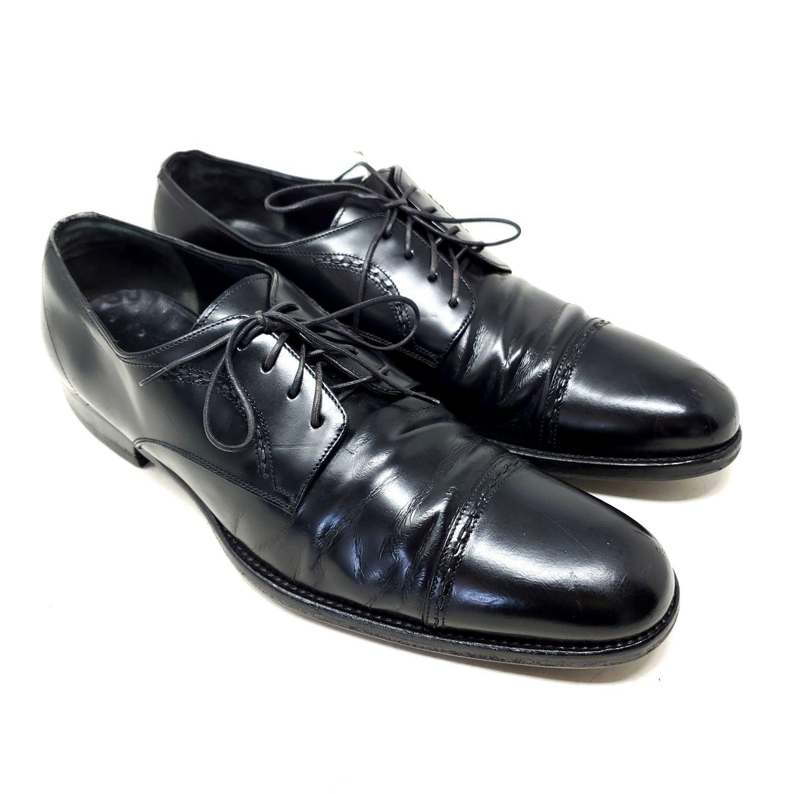 Salvatore Ferragano Black Leather Shoes