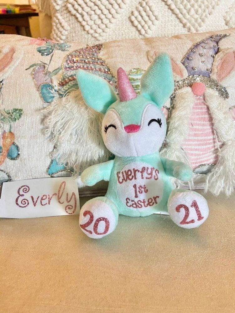 Unicorn Bunny Rabbit Easter Plushie