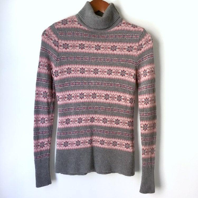 Garnet Hill Fair Isle Turtleneck Sweater
