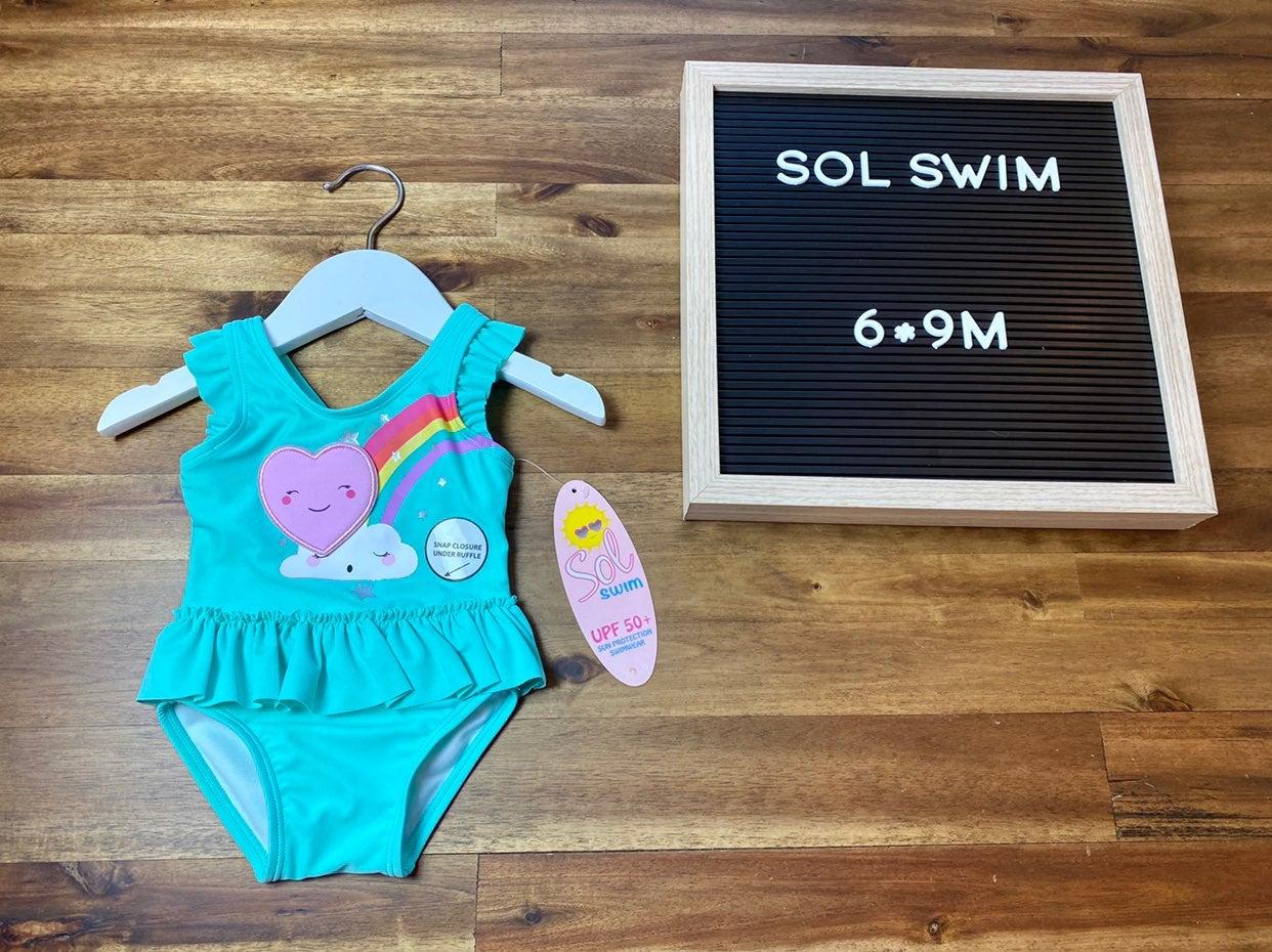 NWT Sol Rainbow Swimsuit 6-9M