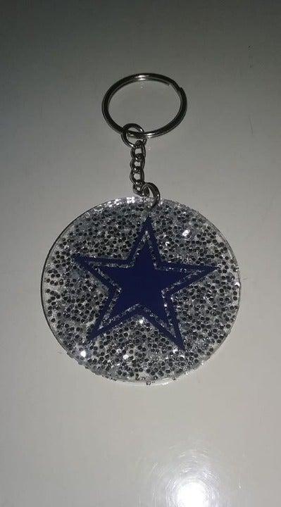 Dallas Cowboys Glitter Key Chain