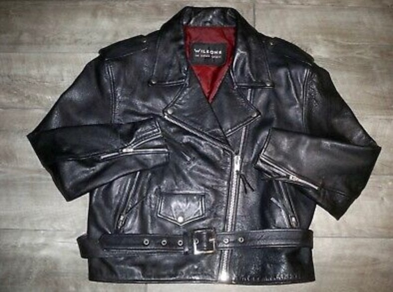 Wilsons Leather Motorcycle Jacket Large
