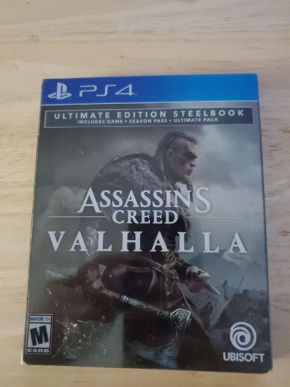 Assassins Creed Valhalla ps4 steelbook w