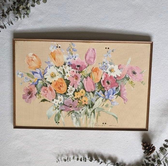 Vintage Boho Floral Wall Art