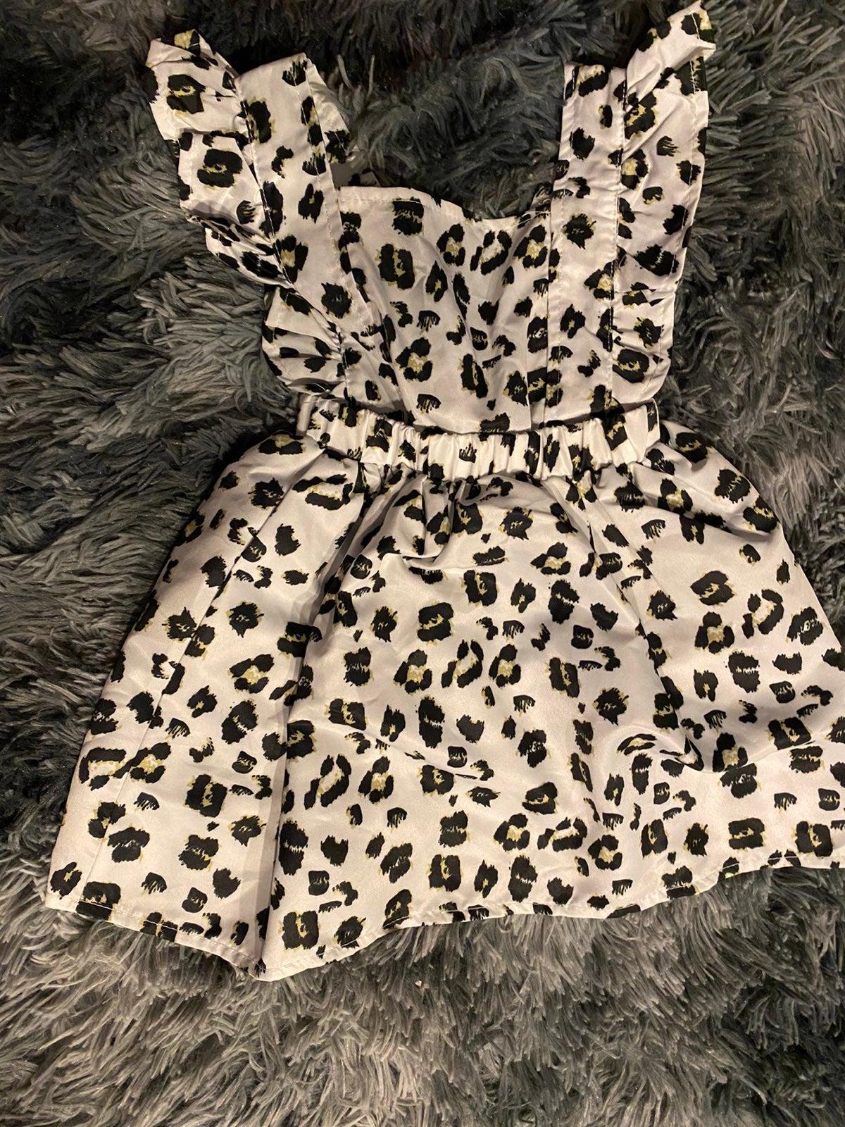 Toddler girls leopard dress