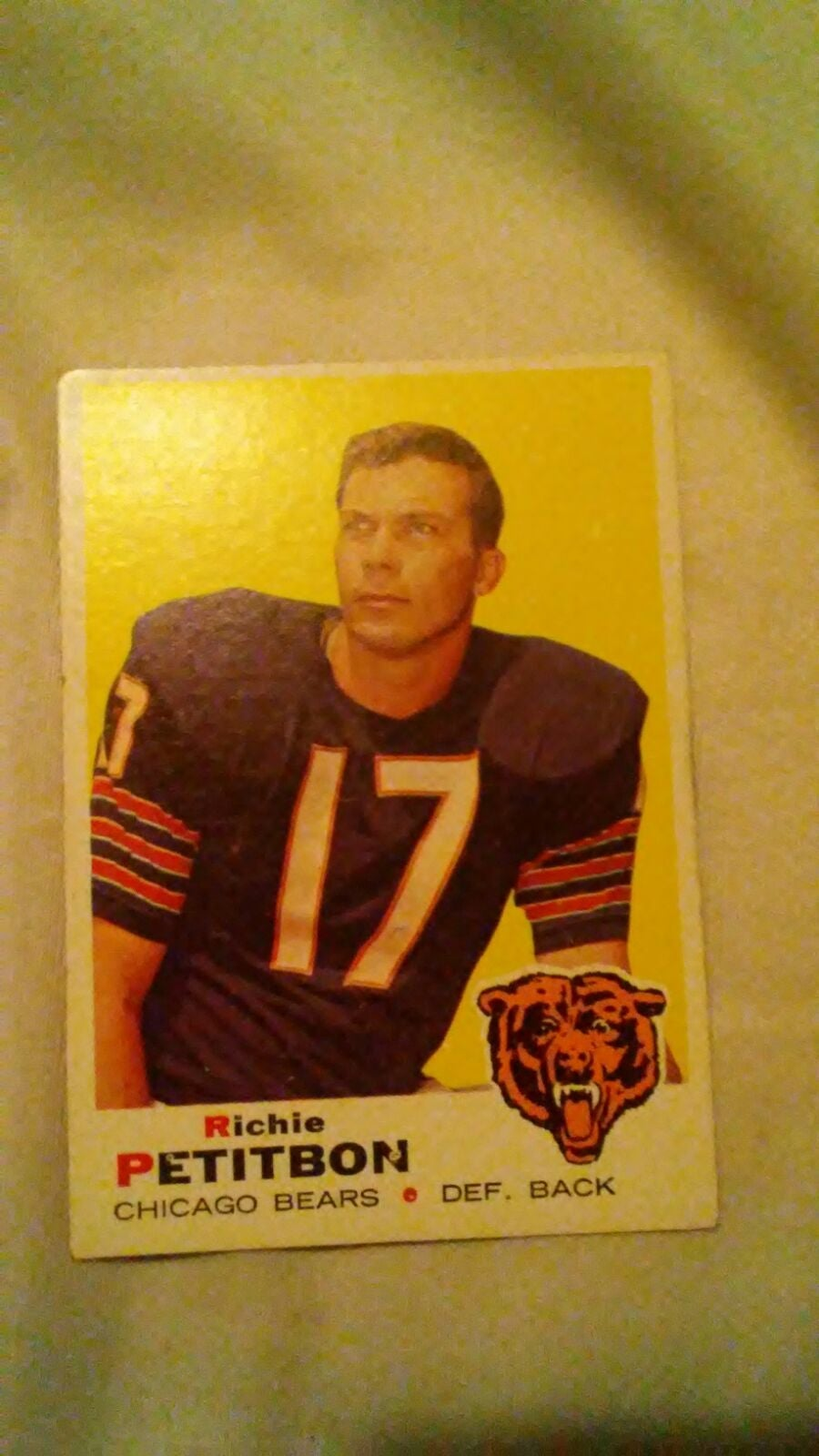 1969 Richie Petitbon football card