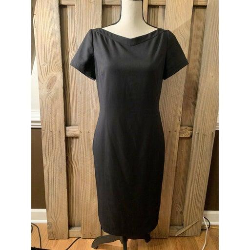 DKNYC Black Short Sleeve Boat Neck Dress