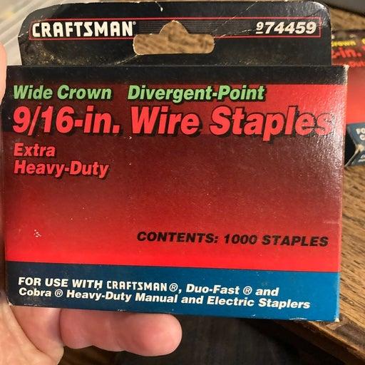 Craftsman 9/16 Wire Staples 1000 pc