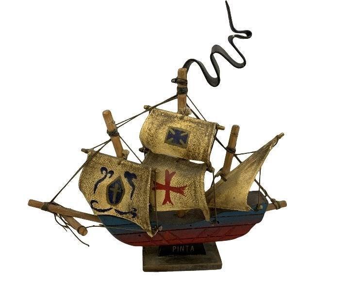 """Pinta Sailing Ship Model - 7.5"""" Tall"""