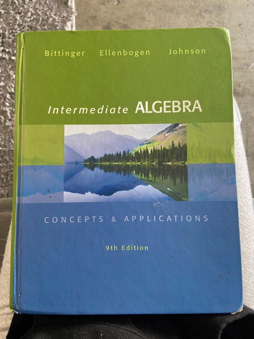 Intermediate Algebra Text book